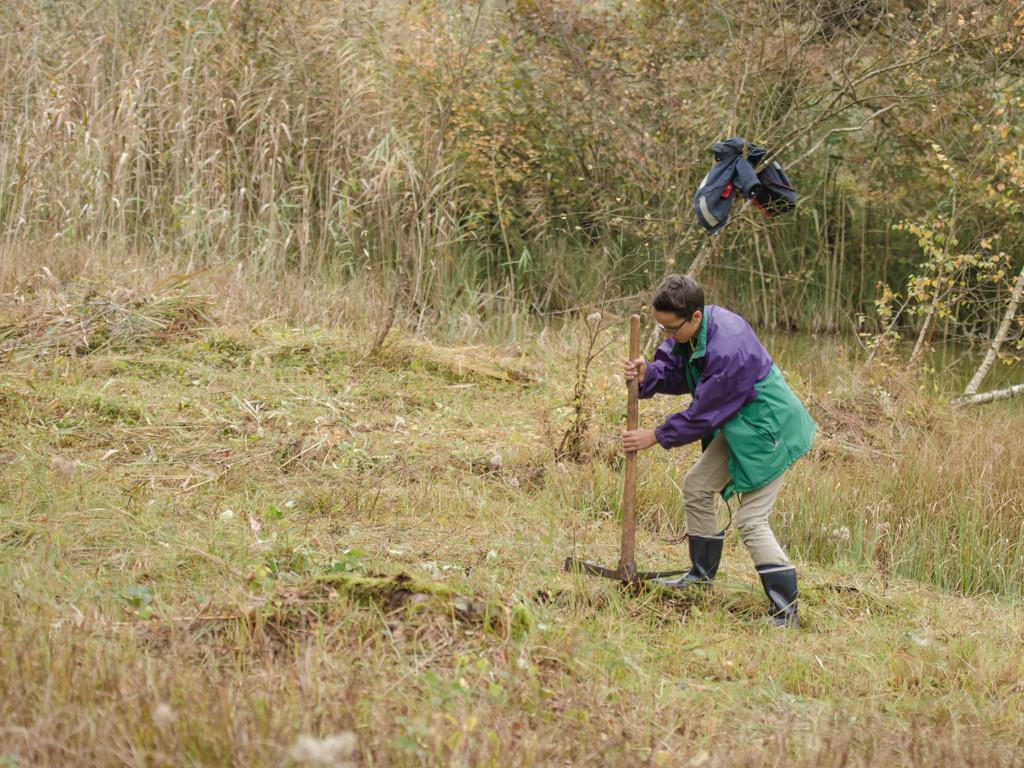 Auch junge Leute können sich für solche Arbeiten begeistern (Photo: Reto Fürst)