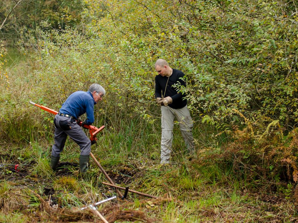 Den Weiden wird mit Spezialwerkzeug zu Leibe gerückt (Photo: Reto Fürst)