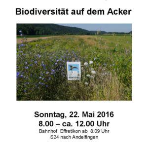 Biodiversität auf dem Acker